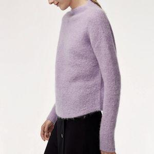Babaton Chalmers Sweater Mock Neck Small Purple